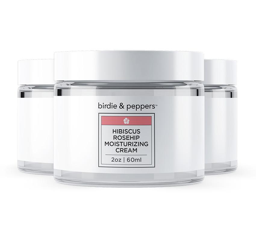 Hibiscus Rosehip Moisturizing Cream 3 Pack
